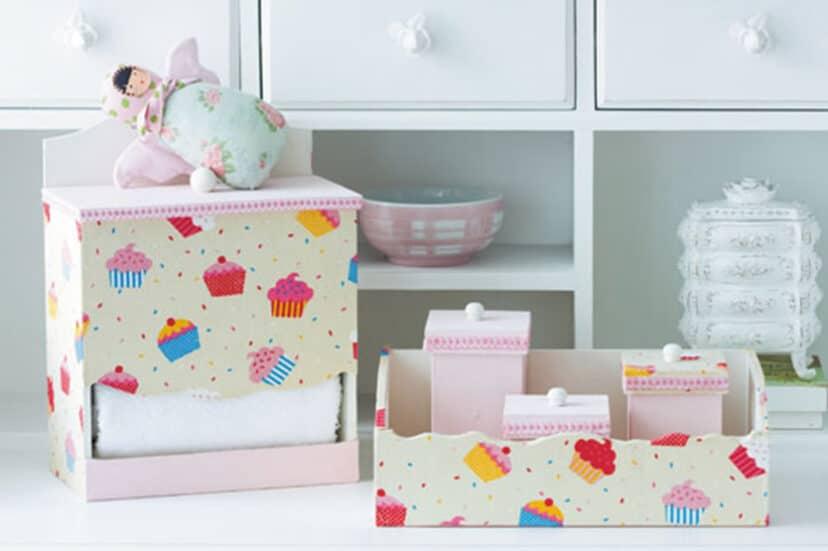 Artesanato em MDF u2013 Kit Higiene para Beb u00eas